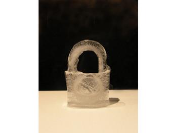 Hourglass, 2004, ice