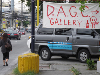 Sign to Department of Avant-Garde Cliches (DAGC), 2011. Photo by Ringo Bunoan