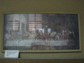 Image 10: da Vinci's Last Supper mounted on card