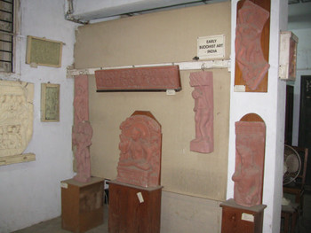 Image 15: plaster cast copies of Indian sculptures from the Mathura period