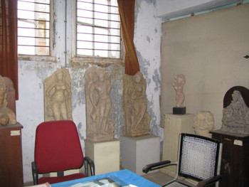 Image 16: plaster cast copies of Indian sculptures from later periods