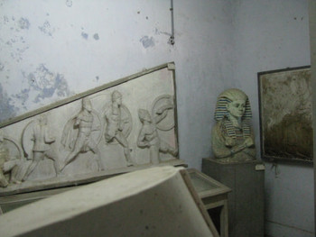 Image 17: plaster cast copies of Greek sculpture and reliefs