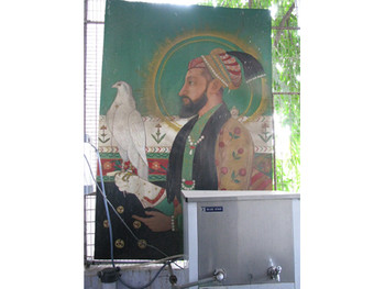 Image 20: a student's rendition of Shah Jahan on a throne