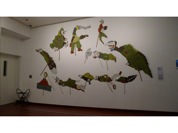 Heri Dono, Indonesia, Wayang Legenda Indonesia Baru, 2000, painted cardboard.