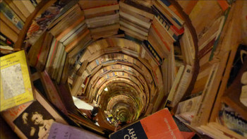 Briccio Santos, Philippines, Heritage Tunnel, 2009, books, wood, mirrors.