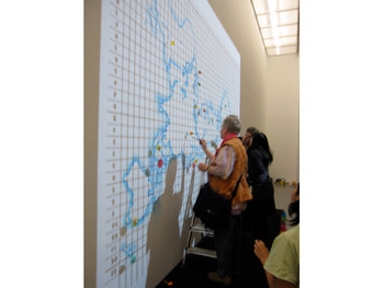 Terra Incognita, et cetera, 2009, interactive performance and installation with watercolour map on t