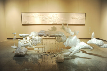 Liu Liyun, Landscape, Installation with clothes