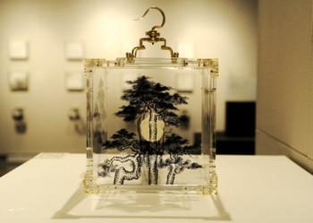 Work of Gan Zhigiang from the 'Hong Kong Ink Art' exhibition, curated by Tang Hoichiu  Gan Zhiqiang, Bonsai (2), 2009, sculpture