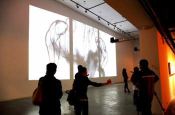 Miao Xiaochun, Gone with Ashes, video installation