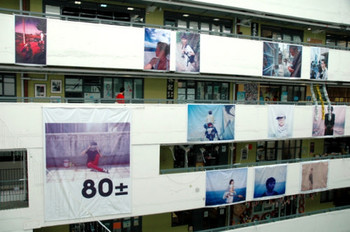 One of Hong Kong Photo Festival 2010's thematic exhibitions, '80± ─ post-80s in the eyes of post-80s: a Photography Exhibition', at the Jockey Club Creative Arts Centre