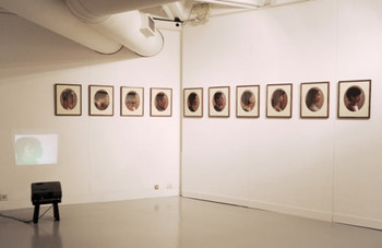 Ki Wong, Moon's perspective II - Family portraits, photography installation