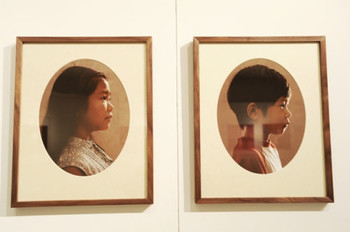 Details of Moon's perspective II - Family portraits, photography installation