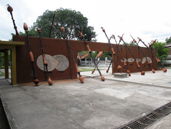 Site-specific installation at the entrance of Jogja National Museum by Valsan Koorma Kolleri