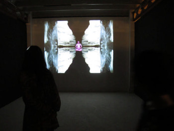Installation view, Krisna Murti, Video Poem, 2011, video single channel, loop
