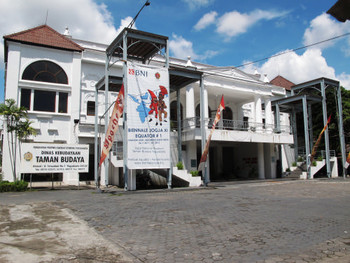 Entrance of Taman Budaya, another venue for Biennale Jogja XI- Shadow Lines: Indonesia Meets India