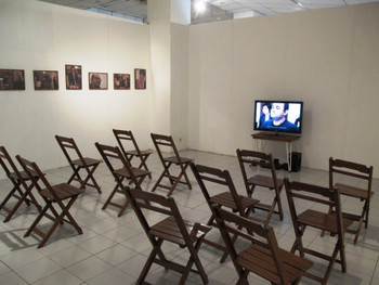 Installation view, R E Hartanto, Derau (Echoes), 2011, video and installation