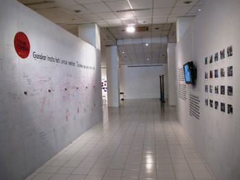 Installation view, Irwan Ahmett, From Mystic to Materialistic, 2011, video and interactive installations