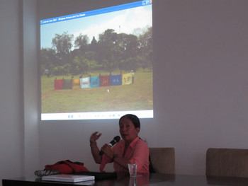 Artist presentation by participating artist Arahmaiani in Jogja Biennale