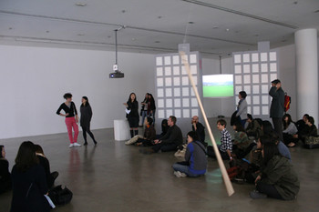 View of Alicia Frankovich's artist talk. Photo courtesy of SAMUSO