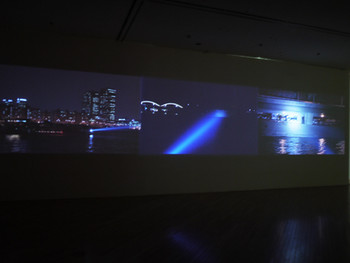 Minouk Lim, S.O.S.- Adoptive Dissensus, 2009, HD video and three-channel projection, color, sound, 11 min 17 sec