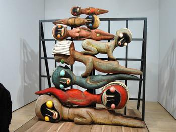 Izumi Kato, Untitled, 2007, wood, acrylic, charcoal, silicon