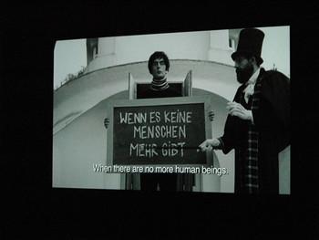 Javier Téllez, Caligari and the Sleepwalker, 2008, super 16mm film transferred to HDV (Blu-ray, sound, b&w), 27 min 7 sec