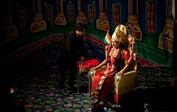 KHOJLIVE12, Pushpamala N and Mamta Sagar (image courtesy of KHOJLIVE12), Performance by Pushpamala N and Mamta Sagar, Motherland