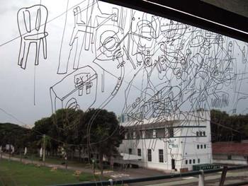 Gosia Wlodarczak's performative drawings (detail)