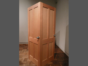 Kyuchul Ahn, Autistic Door, 2004, wood, metal, lacquer paint