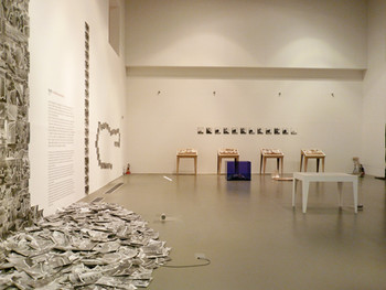 Installation view of Neungkyung Sung's works