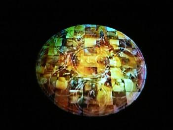 Hyunki Park, Mandala Series, 1997, projector, DVD, flour
