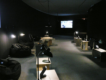 The archive space designed by media artists Sunmin Park and Seonghun Choi
