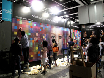 Community project presented by Sovereign Art Foundation at ART HK 11