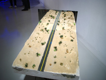 Ho Ming-Kuei, Bridge 2, 2010, installation with mixed materials at '1+1: Shenzhen, Hong Kong, Taipei, Macau Art Exchange Exhibition', Hong Kong Arts Centre