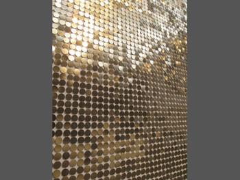 (Detail) Motohiro Tomii, Gold Finger, 2011, pushpins. Presented at the Yokohama Museum of Art