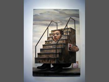 Tetsuya Ishida, Rooftop Refugee, 1996. Presented at the Yokohama Museum of Art