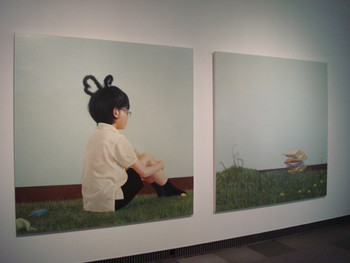 Kaoru Usukubo, Unidentified garden, 2009, oil on panel. Presented at the Yokohama Museum of Art