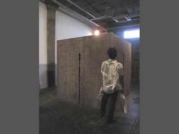 Shigeo Toya, Cave V (Minimal Baroque IX), 2011, wood, ashes, acrylic. Presented at BankART Studio NYK