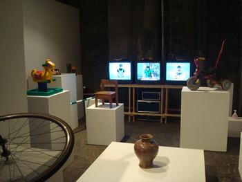 Taro Izumi, Fishbone as slang, 2010, installation. Presented at BankART Studio NYK