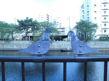 Jun Honma, installation along Ooka River. Presented at Koganecho Bazaar 2011