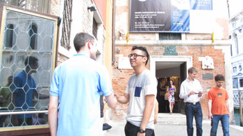 Artist Ho Tzu Nyen (right) represents Singapore at this year's Venice Biennale