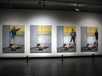 Aris Kalaizis, The Ideal Crash, 2001-2002, oil on canvas