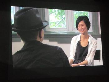 Curator Chen Tong interviews Fang Lu, video documentation