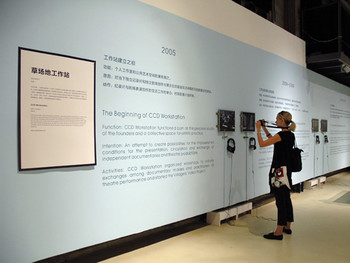 The exhibition stand entitled 'Individual Systems: CCD Workshop'