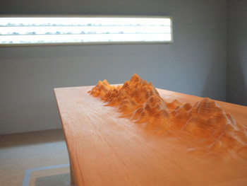 Bae Young-Whan (裵榮煥), Terra Incognita – Theta, 2010, CNC-milled and hand finished oak, 84 x 162 x 60 cm (detail)