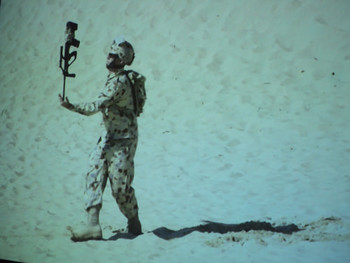 Shaun Gladwell, Double Balancing Act, 2010, dual-channel HD video, channel one: 7 minutes 32 seconds