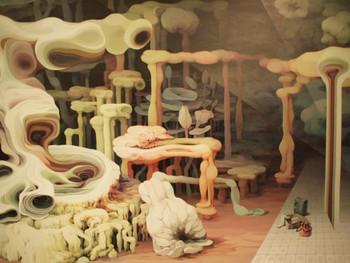 Min Jung Yeon (閔靖鷰), Gare de Madrid, 2010, acrylic on canvas, 150 x 200 cm