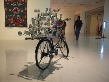 Lê Dinh Q. (黎光頂), I Am Large. I Contain Multitudes, 2009, bicycle, steel, mirrors, dimensions variable