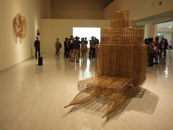 Sopheap Pich, Raft, 2009, bamboo, rattan, wood, wire, metal bolts, 226 x 450 x 132 cm