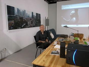 Artist Zhou Xiaohu at his studio.
